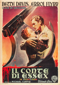 """The Private Lives of Elizabeth and Essex (Warner Brothers, Late 1940s). Italian 2 - Foglio (39"""" X 55"""")"""