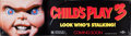 Memorabilia:Movie-Related, Child's Play 3 Vinyl Banner (Universal, 1991)....