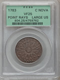 Colonials: , 1783 COPPER Nova Constellatio Copper, Pointed Rays, Large US VF25PCGS. PCGS Population (6/73). NGC Census: (2/24). (#804...