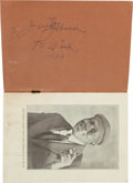 Boxing Collectibles:Autographs, Early 1930's Jack Johnson The Man Signed Book....