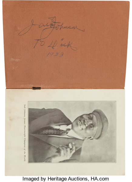 Early 1930's Jack Johnson The Man Signed Book     Boxing   Lot