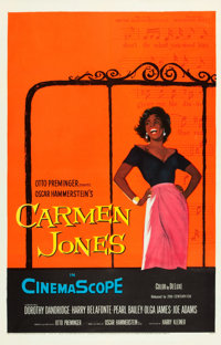 "Carmen Jones (20th Century Fox, 1954). One Sheet (27"" X 41"")"