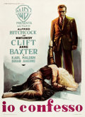 "Movie Posters:Hitchcock, I Confess (Warner Brothers, 1953). Italian 2 - Foglio (39"" X 55"")....."