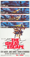 "Movie Posters:War, The Great Escape (United Artists, 1963). Three Sheet (41"" X 80"")....."