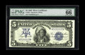 Large Size:Silver Certificates, Fr. 281 $5 1899 Silver Certificate PMG Gem Uncirculated 66 EPQ.This Chief has knockout eye appeal, with huge margins, gorge...