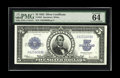 Large Size:Silver Certificates, Fr. 282 $5 1923 Silver Certificate PMG Choice Uncirculated 64 EPQ. The top margin, while sufficient for Gem is not quite eve...