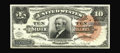 Large Size:Silver Certificates, Fr. 293 $10 1886 Silver Certificate Choice About New. The all important central vignette of Thomas A. Hendricks is uninterru...