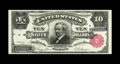 Large Size:Silver Certificates, Fr. 299 $10 1891 Silver Certificate Gem New. An attractive notewith attributes of embossing, bright paper, and dark inks. N...