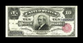 Large Size:Silver Certificates, Fr. 299 $10 1891 Silver Certificate Choice New. A great example of the Tombstone type, with large margins, ideal centering, ...