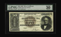 Large Size:Silver Certificates, Fr. 328 $50 1880 Silver Certificate PMG Very Fine 30. One out ofevery four survivors for this issue is permanently housed i...