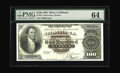 Large Size:Silver Certificates, Fr. 341 $100 1880 Silver Certificate PMG Choice Uncirculated 64. Anew note to the census, and a truly great one. Of the two...