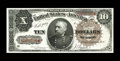 Large Size:Treasury Notes, Fr. 366 $10 1890 Treasury Note About New. There exists a center bend that is not easily seen as well as a single corner tip ...