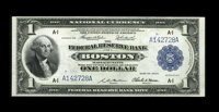 Fr. 708 $1 1918 Federal Reserve Bank Note About New. Nice margins and color are exhibited by this bright $1 that is relu...