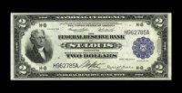 Fr. 768 $2 1918 Federal Reserve Bank Note About New. Serial number embossing is viewed on this Deuce that has a center f...