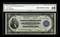 Large Size:Federal Reserve Bank Notes, Fr. 772 $2 1918 Federal Reserve Bank Note CGA Gem Uncirculated 65. A nice Battleship, with broad, even margins and superior ...