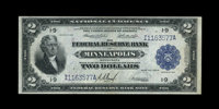 Fr. 772 $2 1918 Federal Reserve Bank Note Choice About New. Close inspection reveals a soft center bend on this bright M...