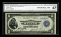 Fr. 805 $5 1915 Federal Reserve Bank Note CGA Gem Uncirculated 67. Currently only four notes are known in the census in...