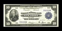 Fr. 810 $10 1918 Federal Reserve Bank Note Extremely Fine. A previously unrecorded serial number is found on this $10. T...