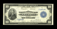 Fr. 811 $10 1915 Federal Reserve Bank Note Extremely Fine. The Plymouth Rock Collection yields another rarity as this br...