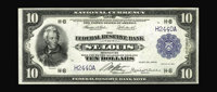 Fr. 815 $10 1918 Federal Reserve Bank Note Very Fine-Extremely Fine. This St. Louis $10 is new to the census of 28 Large...