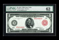 Large Size:Federal Reserve Notes, Fr. 833a $5 1914 Red Seal Federal Reserve Note PMG Uncirculated 62. A new note for the census which has remained hidden for ...