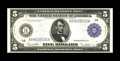 Large Size:Federal Reserve Notes, Fr. 847a $5 1914 Federal Reserve Note Superb Gem New. Embossing and bright paper are paired with dark blue ink on this examp...
