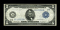 Large Size:Federal Reserve Notes, Fr. 850 $5 1914 Federal Reserve Note Fine-Very Fine. Sharp edges remain on this $5.. From The Plymouth Rock Collection...