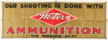 Advertising:Signs, Western Ammo Advertising Banner....