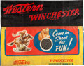 Advertising:Signs, Western Winchester Target Range Banner....