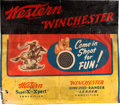 Advertising:Signs, Western Winchester Target Range Advertising Banner....