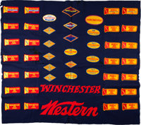 Western Winchester Shooting Competition Felt Banner