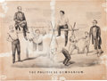 Political:Small Paper (pre-1896), Abraham Lincoln: 1860 Currier & Ives Cartoon....