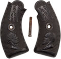 Political:3D & Other Display (pre-1896), Abraham Lincoln & James A. Garfield: Post-Assassination Pistol Grips....