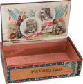 Political:3D & Other Display (pre-1896), Blaine & Logan: Colorful Jugate Cigar Box....