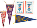 Political:Textile Display (1896-present), Group of Military Pennants, Buttons and Banners.... (Total: 5 )