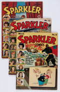 Golden Age (1938-1955):Miscellaneous, Sparkler Comics #8, 12, and 18 Group (United Features Syndicate, 1942-43) Condition: Average VG.... (Total: 3 Comic Books)