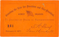 Political:Small Paper (pre-1896), Rutherford B. Hayes: Counting the Electoral Vote Ticket. ...