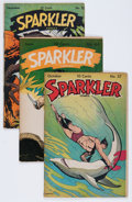 Golden Age (1938-1955):Miscellaneous, Sparkler Comics #37, 44, and 50 Group (United Features Syndicate, 1944-45) Condition: Average VG+.... (Total: 3 Comic Books)