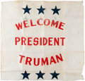 Political:Posters & Broadsides (1896-present), Harry S Truman: Graphic Banner....