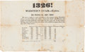 Political:Small Paper (pre-1896), William Henry Harrison: 1840 Election Results Extra....