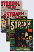 Golden Age (1938-1955):Science Fiction, Strange Tales #11, 58, and 90 Group (Atlas/Marvel, 1952-61)Condition: Average VG.... (Total: 3 Comic Books)