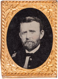 Political:Ferrotypes / Photo Badges (pre-1896), Ulysses S. Grant: Gem Ferrotype Badge....