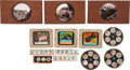 Western Expansion:Cowboy, The Old West: Group of Glass Slides.... (Total: 13 Items)
