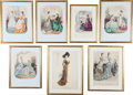 Advertising:Paper Items, Seven Fashion-related Decorative Prints.... (Total: 7 Items)