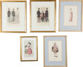 Advertising:Paper Items, Fashion-related Decorative Framed Prints.... (Total: 5 Items)