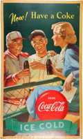 Advertising:Soda Items, Advertising: Three Baseball Theme Coca Cola Posters. ... (Total: 3Items)