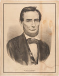 Political:Posters & Broadsides (pre-1896), Abraham Lincoln: Large Currier & Ives Memorial Print....