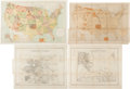 Western Expansion:Cowboy, Nineteenth Century Indian Reservation Maps.... (Total: 4 Items)