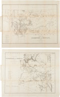 Western Expansion:Cowboy, Montana (Little Big Horn) and Arizona Maps.... (Total: 2 Items)