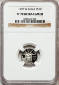 Modern Bullion Coins: , 1997-W P$10 Tenth-Ounce Platinum Eagle PR70 Ultra Cameo NGC. NGCCensus: (520). PCGS Population (107). Mintage: 37,260. Num...
